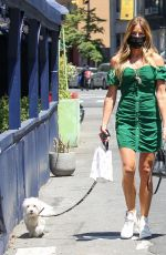 KELLY BENSIMON Out with Her Dog in New York 05/13/2021