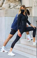 KELLY BENSIMON Stretching after a Workout in New York 05/07/2021