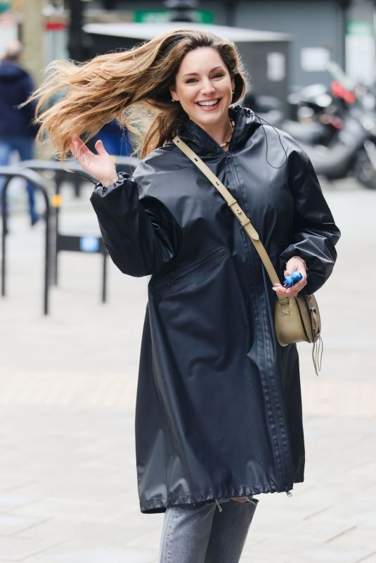 KELLY BROOK Arrives at Heart Radio in London 05/13/2021