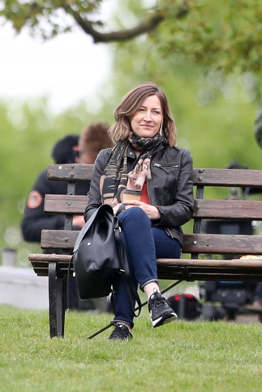 KELLY MACDONALD Filming for Amazon Prime in London 05/14/2021
