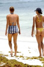 KELSEY MERRITT in a Yellow Bikini at a Beach in Mexico 05/05/2021