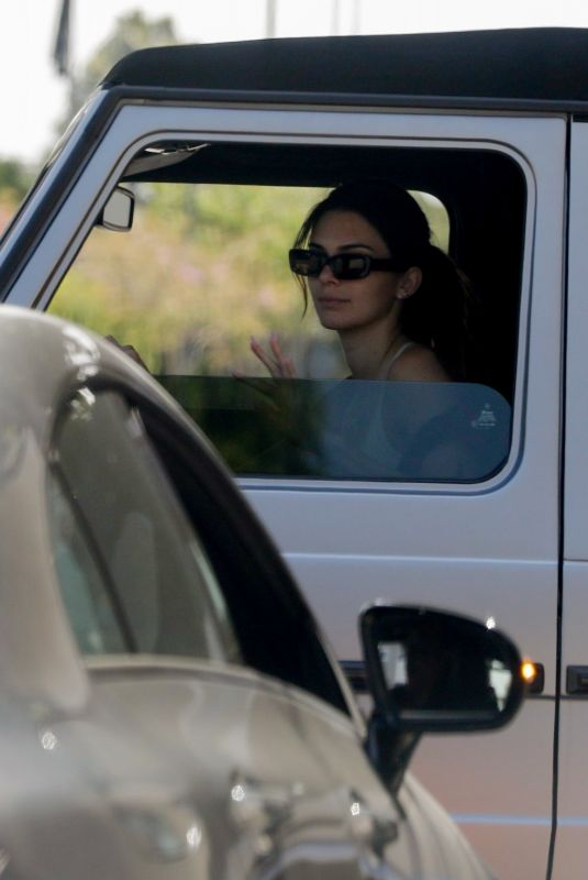 KENDALL JENNER Out Driving in Her Mercedes G-Wagon in Beverly Hills 05/12/2021