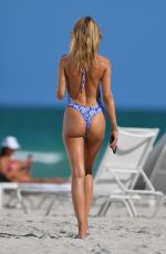 KIMBERLEY GARNER in Swimsuit at a Beach in Miami 05/11/2021