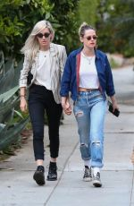 KRISTEN STEWART and DYLAN MEYER Out in Los Angeles 05/11/2021