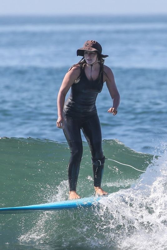 LEIGHTON MEESTER Out Surfing in Malibu 04/30/2021