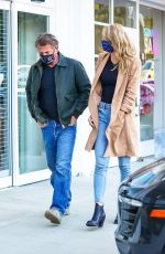 LEILA GEORGE and Sean Penn Out for Dinner in Malibu 05/04/2021