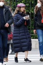 LILY COLLINS on the Set of Emily in Paris in Paris 05/20/2021