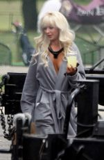LILY JAMES as Pam Anderson on the Set of Pam and Tommy in Los Angeles 05/11/2021