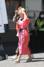 LILY JAMES on the Set of Pam & Tommy in Los Angeles 05/03/2021