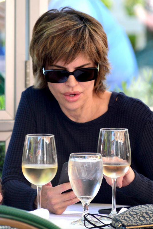 LISA RINNA Out for Lunch in Malibu 05/23/2021