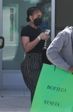 LORI HARVEY Out Shopping in Beverly Hills 04/30/2021