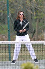 LUANN DE LESSEPS Playing Tennis at Sag Harbor in New York 05/09/2021