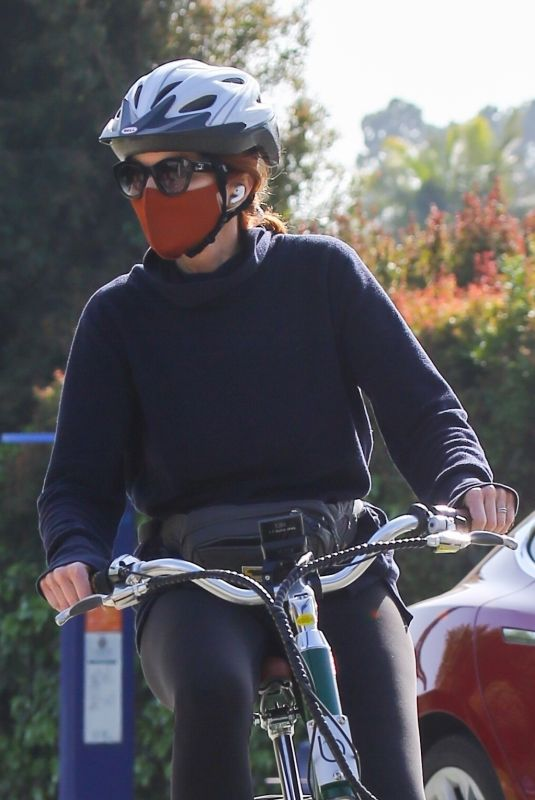 MARCIA CROSS Out Riding a Bike in Brentwood 05/09/2021