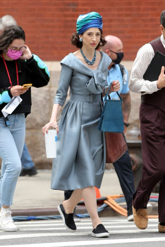 MARIN HINKLE on the Set of The Marvelous Mrs. Maisel in New York 05/28/2021