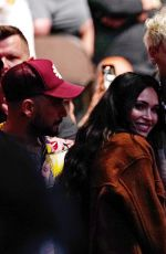 MEGAN FOX and Machine Gun Kelly at the UFC 261 04/24/2021