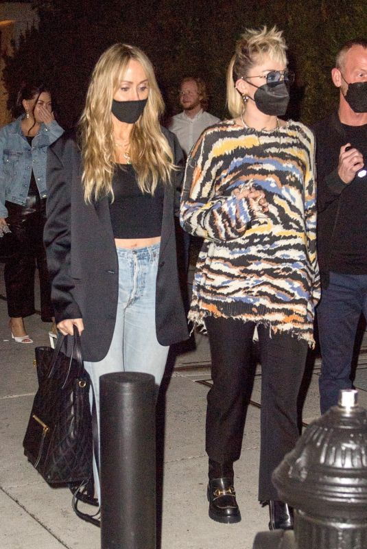 MILEY and TISH CYRUS at SNL Afterparty in New York 05/09/2021