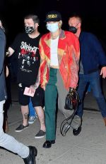 MILEY CYRUS Arrives at Her Hotel in New York 05/07/2021