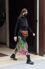 MILLA JOVOVICH Leaves Mandarin Hotel in Paris 05/03/2021
