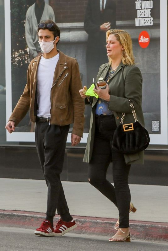MISCHA BARTON and Gian Marco Flamini at Leica Camera Store in Los Angeles 05/07/2021