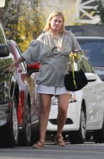 MISCHA BARTON Out with Her Dog Near Her Home in Los Feliz 05/10/2021