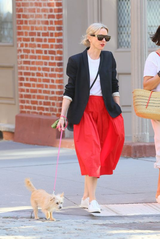 NAOMI WATTS Out with Her Dog in New York 05/21/2021