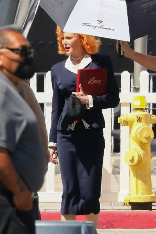 NICOLE KIDMAN on the Set of Being the Ricardos in Long Beach 05/19/2021