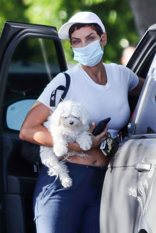 NICOLE MURPHY Out with Her Dog in West Hollywood 05/26/2021