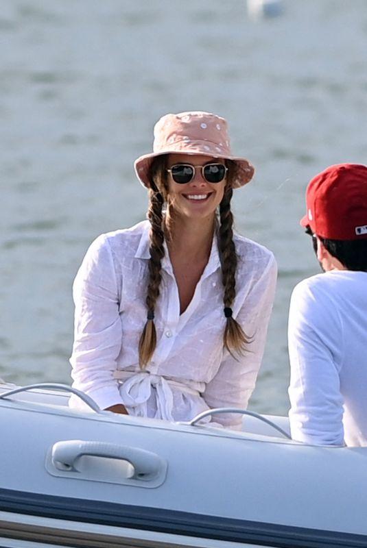 NINA AGDAL at a Boat Ride in Sag Harbor 05/23/2021
