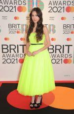 OLIVIA RODRIGO at 2021 Brit Awards in London 05/11/2021