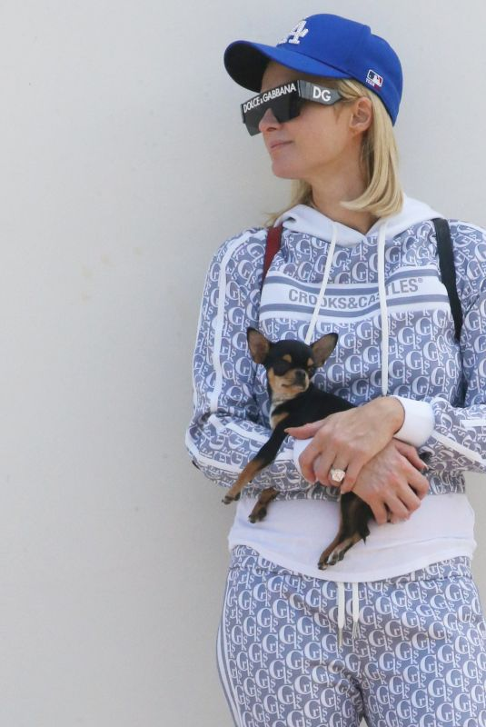 PARIS HILTON Out with Her Dog in Malibu 05/08/2021