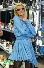 PARIS HILTON Shopping at Philipp Plein Store in Beverly Hills 05/12/2021