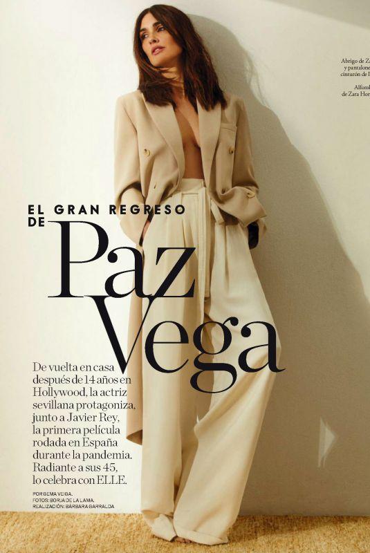 PAZ VEGA in Elle Magazine, Spain June 2021