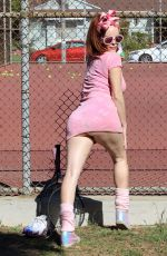 PHOEBE PRICE at a Tennis Courts in Los Angeles 05/04/2021