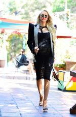 Pregnant CHRISTINE QUINN on the Set of Her New TV Show in Los Angeles 05/16/2021