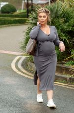 Pregnant LAUREN GOODGER Out and About in Chigwell 05/09/2021