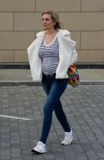 Pregnant RACHEL RILEY Leaves Countdown Studios in Manchester 05/25/2021