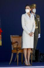 QUEEN LETIZIA OF SPAIN at Spanish Army Aviation Academy Colmenar Viejo 05/07/2021