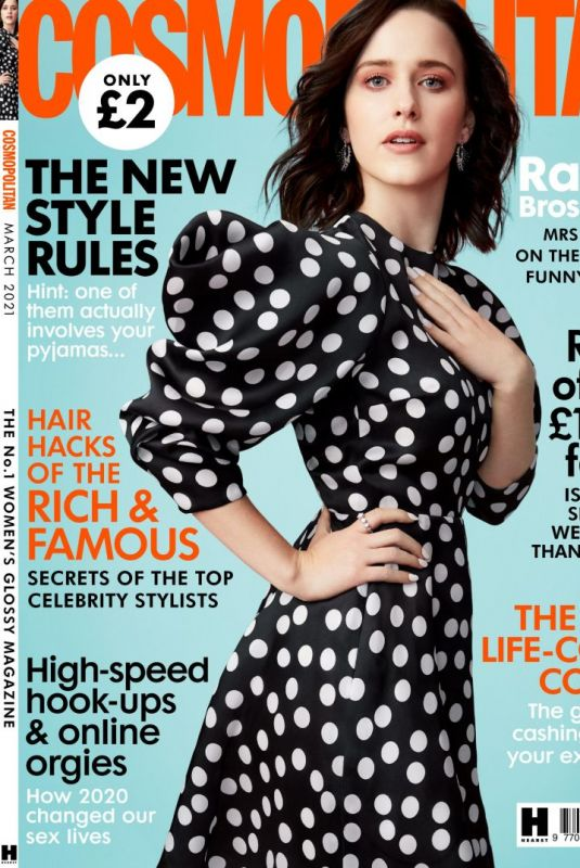 RACHEL BROSNAHAN in Cosmopolitan Magazine, UK March 2021