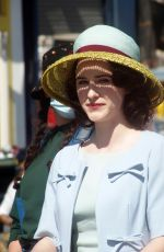 RACHEL BROSNAHAN on the Det of The Marvelous Mrs. Maisel at Coney Island Amusement Park in New York 05/06/2021