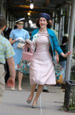 RACHEL BROSNAHAN on the Set of The Marvelous Mrs Maisel in New York 05/17/2021