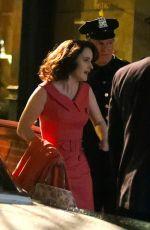 RACHEL BROSNAHAN on the Set of The Marvelous Mrs. Maisel in New York 05/11/2021