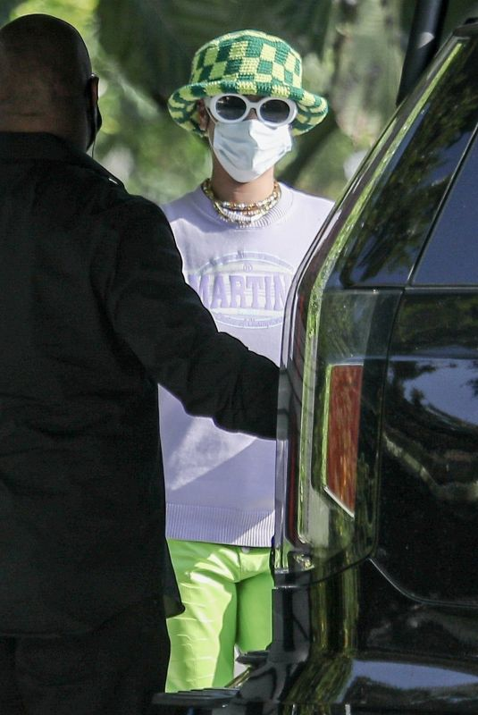 RIHANNA Leaves ASAP Rocky's House in Los Angeles 05/27/2021