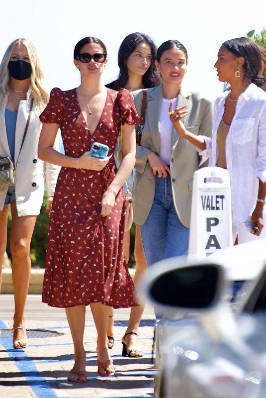 SARA SAMPAIO, SHANINA SHAIK, JASMINE TOOKES nd KELSEY MERRITT at Nobu in Los Angeles 05/01/2021