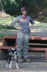 SARAH SILVERMAN Out with Her Dogs in Los Feliz 05/08/2021