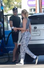 SHANNA MOAKLER and Matthew Rondeau at a Gas Station in Los Angeles 05/19/2021