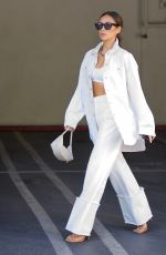 SHAY MITCHELL All in White Out in Los Angeles 05/17/2021
