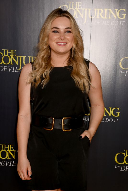SIAN WELBY at The Conjuring: The Devil Made Me Do It Screening in London 05/26/2021