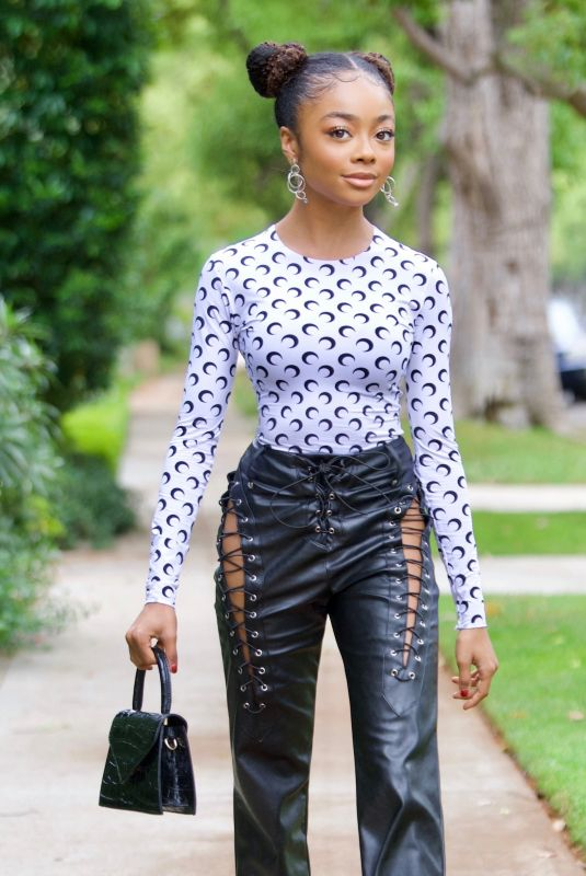 SKAI JACKSON Out and About in Beverly Hills 05/14/2021