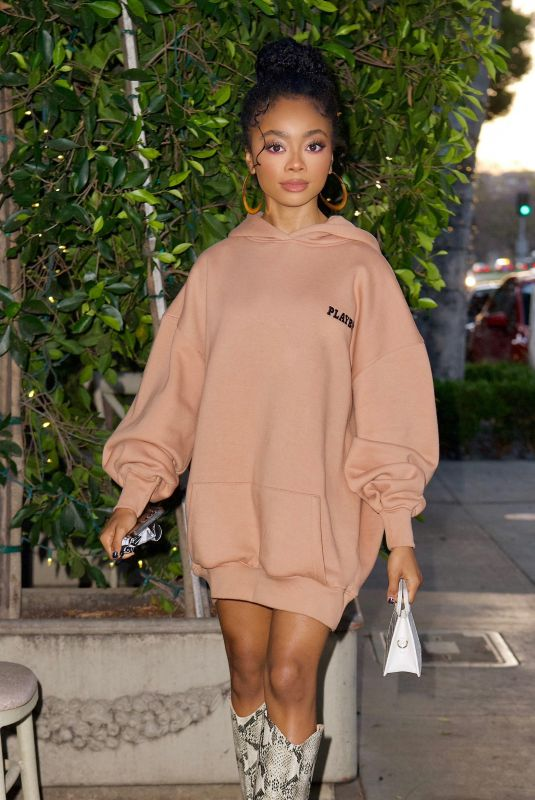 SKAI JACKSON Out for Dinner in Beverly Hills 05/21/2021