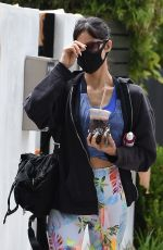SOFIA BOUTELLA Arrives at Pilates Class in West Hollywood 05/19/2021